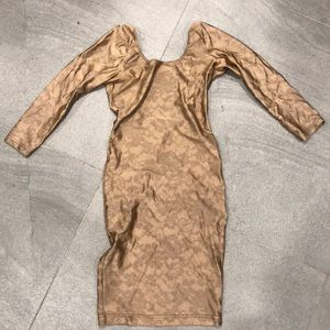 American Apparel Floral Lace Print Nylon Dress